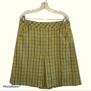 Loft Plaid Wool Skirt with Pockets Size 12